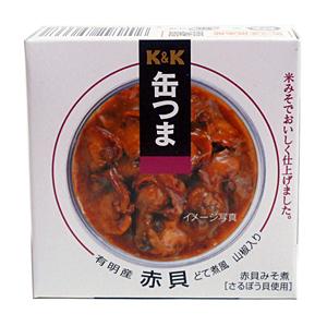 K&K 缶ツマ有明産赤貝ドテ煮風山椒入 70g【イージャパンモール】