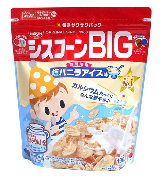 日清シスコ シスコーンBIG塩バニラ味190g     【イージャパンモール】