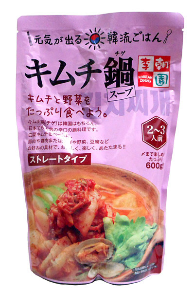 李朝園 キムチ鍋スープ600g【イージャパンモール】