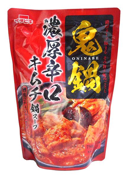 イチビキ 鬼鍋濃厚辛口キムチ鍋スープ750g【イージャパンモール】