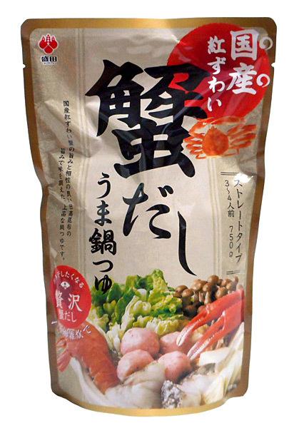 盛田 国産紅ずわい蟹だしうま鍋つゆ750g【イージャパンモール】