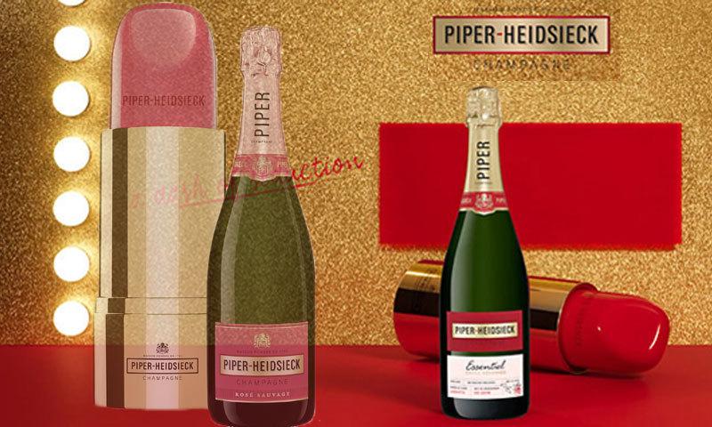 フランス産シャンパン・シャンパーニュ リップスティック型のクーラーボックス付き