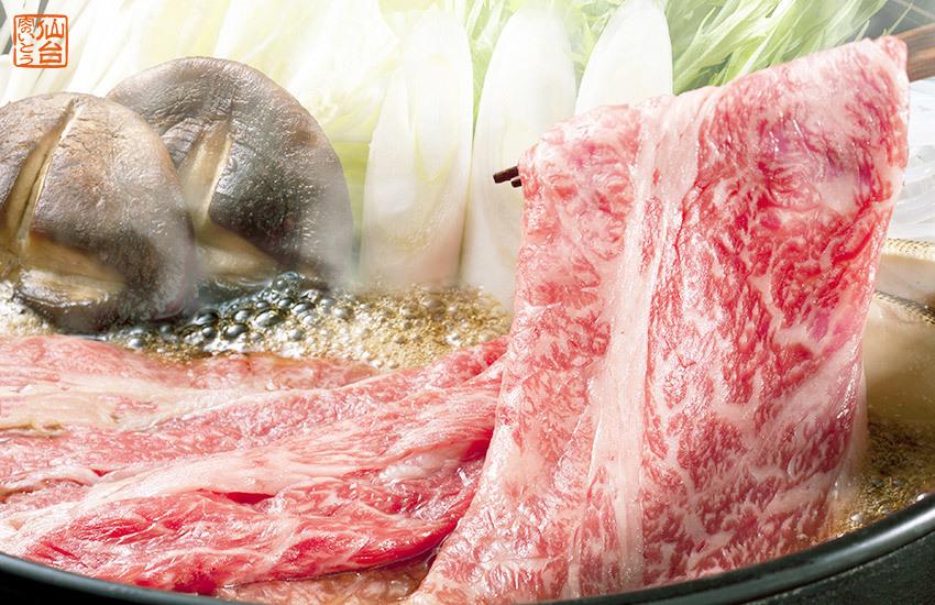 仙台牛のすき焼き。