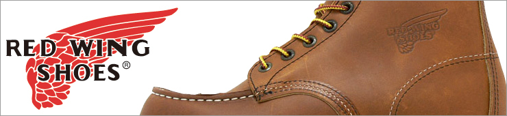 エンジニア、ペコス、ベックマン、アイリッシュセッターなどワークブーツの定番ブランドREDWING/レッドウィング商品一覧へ
