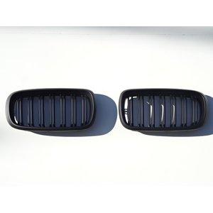 独特の素材 BMW F15 X5  F16 X6 Mルック ダブルフィン マットブラックグリル キドニーグリル xDrive 35d 35i 50i, アイナスタイル 4092d6cf