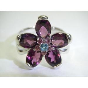 【コンビニ受取対応商品】 K18WGロードライトガーネットリング JC6907 ロードライトガーネット(5石)・ピンクトルマリン(5石)・ブルートパーズ(1石) JC6907 7号(き) 深い紫色の石が表現する、大人の女の可愛らしさ。, フルビラグン:7219acc7 --- ancestralgrill.eu.org