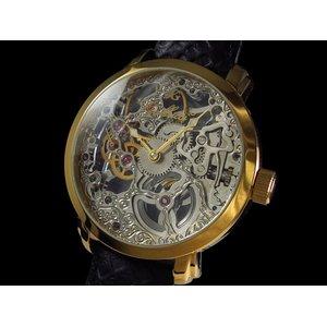【メール便不可】 GALLUCCI ガルーチ 腕時計 手巻き スケルトン WT22200SK-GDBK【送料無料】, 香々地町 d4858c43
