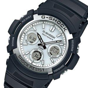 カシオG ショックタフソーラーメンズ腕時計AWG M100S 7AJF シルバー国内正規【送料無料】
