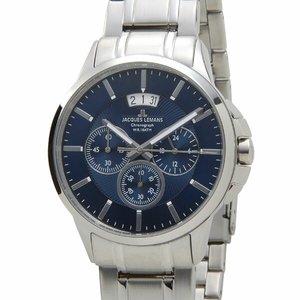高級品市場 ジャックルマン 1-1542I シドニー クロノ クロノ デイト クオーツ メンズ 腕時計 シドニー 1-1542I ブルー【送料無料】【送料無料】【ラッピング無料】, 愛する下着たち!ビーハーツ:46d53cb1 --- pyme.pe