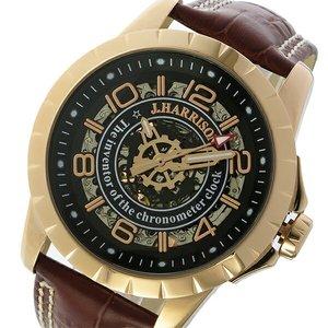 正規品! ジョンハリソン JOHN HARRISON 自動巻き メンズ 腕時計 JH-038SB ブラック/ピンクゴールド【送料無料】, 薔薇雑貨かわいい姫系雑貨のMeggie e0a6f229