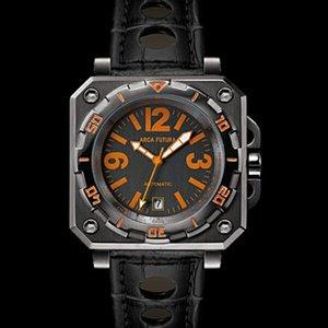 宅配便配送 アルカフトゥーラ ARCA FUTURA 自動巻き 自動巻き メンズ 腕時計 AF3HBO オレンジ 腕時計/ブラック メンズ【送料無料】【送料無料】【ラッピング無料】, ディーショップワン:93dd1f60 --- deutscher-offizier-verein.de