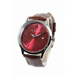 有名な高級ブランド トモラ TOMORA TOKYO T-1605S-SRD クオーツ トモラ メンズ 腕時計 T-1605S-SRD レッド×ブラウン【送料無料 メンズ】【送料無料】【ラッピング無料】, 河南町:1b9df31a --- pyme.pe