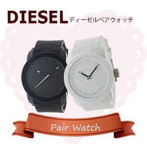選ぶなら 【ペアウォッチ】ディーゼル DIESEL ペアウォッチ 腕時計 DZ1436 DZ1437 ホワイト ブラック【送料無料】, 健康無垢の材木屋 イーウッド 742752d1