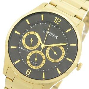 【オープニング大セール】 シチズン CITIZEN クオーツ メンズ 腕時計 AG8353-81E ブラック/ゴールド【送料無料】, サンワチョウ bf341d09