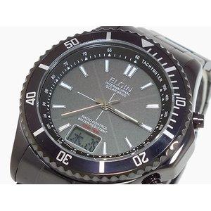 格安販売中 エルジン ELGIN 腕時計 時計 ソーラー 電波受信 メンズ FK1371B-BP, MACBELT 654d7abb