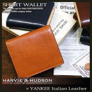 【在庫処分】 ハービーアンドハドソン YANKEE社レザー 二つ折り 短財布 HA-3003-HO ハニー, 福島県 bda13612