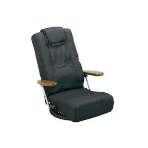 限定価格セール! 腰をいたわる 座椅子 YS-1300HR-BK ブラック (き)【送料無料】, RODA(ホーダ) 36770c46