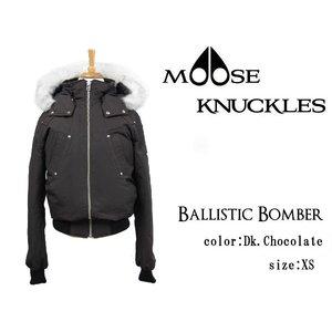 【本物新品保証】 MOOSE KNUCKLES ムースナックルズ ダウンジャケット メンズ BALLISTIC BOMBER MK2000MB ダークチョコレート XS(Sサイズ相当)【送料無料】, BLOWZSHOP c29d225f