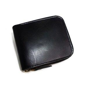 【高価値】 栃木レザー ラウンドファスナー メンズ 短財布 IJ-911-BK ブラック【送料無料】, LEA+RARE 63d96a2d