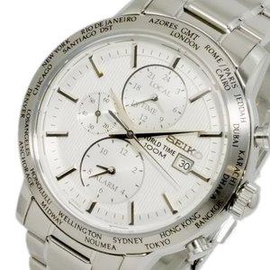 【保存版】 セイコー SEIKO ワールドタイム アラーム GMT メンズ 腕時計 SPL047P1 ホワイト【送料無料】, 早川町 42d4bd36
