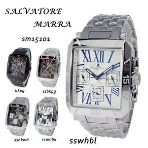 上品なスタイル サルバトーレ マーラ SALVATORE 腕時計 MARRA クオーツ 腕時計 サルバトーレ マーラ SM15101-SSWHBL ブラック【送料無料】【送料無料】【ラッピング無料】, 革製品と毛皮のエアーマミー:2a0cf048 --- extremeti.com