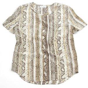 【当店限定販売】 エキプモン Python Printed 2013SS Riley Tee Python Stripe natural Printed パイソン×ストライププリント Tシャツ とろみシルクシャツ ナチュラル/マルチカラー Q515-E305 natural multi【送料無料】【送料無料】, リサイクルきものせんしょう:fd3fe6e7 --- carexportzone.com