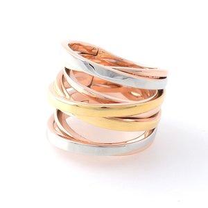 海外並行輸入正規品 マイケルコース Tri-Colour MICHAEL KORS Stack トリコロールカラー スパイラル スパイラル クリスクロス リング 指輪 サイズ7 (日本サイズ13号) Tri-Colour Multi Stack Ring MKJ2598998/7 リング【送料無料】, Ladia:df2cb604 --- ancestralgrill.eu.org