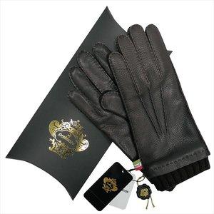 【T-ポイント5倍】 OROBIANCO オロビアンコ メンズ手袋 ORM-1413 Leather glove 鹿革 ウール DARKBROWN サイズ:8.5(24cm) プレゼント クリスマス【送料無料】, 阿寒町 b6be6952