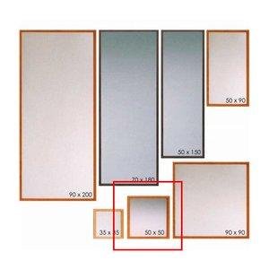 2019人気特価 壁掛けミラー ウォールミラー 壁掛け鏡 ミラー 50×50 日本製 完成品 木製 無垢 素材が選べる 7素材 送料無料, 葵屋本舗 f18971ce
