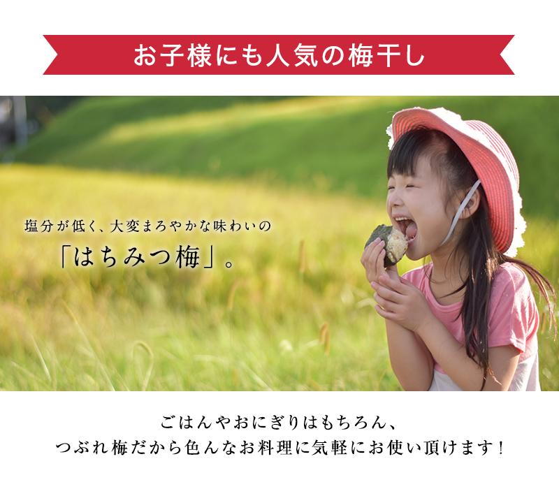 お子様にも人気のはちみつ梅