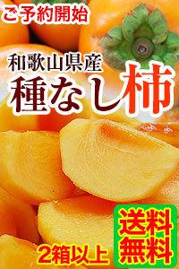 和歌山の種なし柿 ご予約開始