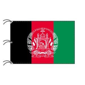【驚きの値段で】 世界の国旗 アフガニスタン(140×210cm・テトロン製・安心の日本製), 京都カナリヤ手芸店 f7d626b7