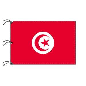 上品な 世界の国旗 チュニジア(140×210cm・テトロン製・安心の日本製) 200ヶ国在庫!統一価格! 軽量で風によくなびき、シワになりにくい爽やかテトロン素材!, HEAVENS:b1f2c2f0 --- mashyaneh.org