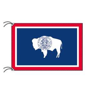 【初回限定お試し価格】 ワイオミング州旗[アメリカ合衆国の州旗・90×135cm・高級テトロン製], テニスプロショップラフィノ a07b8db8