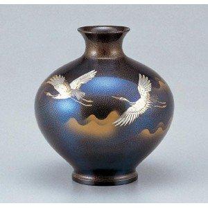 暮らし健康ネット館 竹中銅器 銅製花瓶 福丸形 銅製花瓶 鶴 76-05 花のある暮らしを個性的に演出してくれます 鶴 福丸形。, 阿波町:7ff2beae --- frmksale.biz