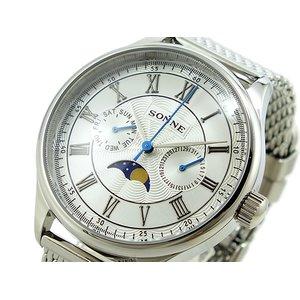 全品送料0円 ゾンネ SONNE メンズ 腕時計 時計 S146SV, Golkin(ゴルフマートキング) 5eb3c0be