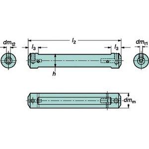 【予約】 サンドビック コロターンXS 小型旋盤用アダプタ【CXS-A25-05】(旋削・フライス加工工具・ホルダー), La rumeur 63d2f82c