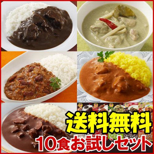 Miyajima レンジでカレー 10食お試しセット