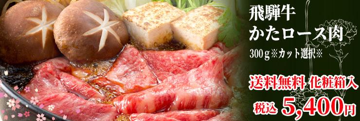 飛騨牛肩ロース肉カット選択