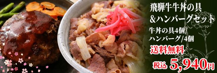 飛騨牛牛丼&ハンバーグ
