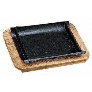 正規代理店 鉄皿 和風ステーキ皿 竹 鉄皿(木台付) YA3-74-17&18(き), たばや 539765e8