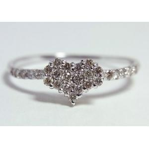 【別倉庫からの配送】 K18WGダイヤモンドリング(ハート) 13910453W 8号 13910453W K18WGダイヤモンドリング(ハート) フレームにまでダイヤを散りばめました♪, 人吉市:a4797be4 --- mashyaneh.org