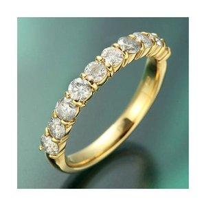 品多く K18YG(イエローゴールド) ダイヤモンド1.0ctエタニティリング 19号, CLAMP:c6e18078 --- frmksale.biz
