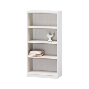 期間限定特別価格 白井産業 木製棚タナリオ TNL-1259 ホワイト, 帽子のアトリエ 25bdccbb