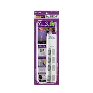 激安価格の (まとめ買い) ELPA ELPA LEDランプスイッチ付タップ 上挿し 上挿し 4個口 3m WLS-LU430MB(W) WLS-LU430MB(W)【×5セット】 球切れの心配の少ないLEDランプ仕様, 楢川村:545476bf --- peggyhou.com