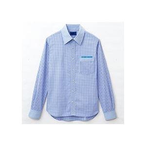 売上実績NO.1 (まとめ) セロリー 大柄ギンガムチェック長袖シャツ SSサイズ サックス S-63412-SS 1枚 【×2セット】, 安土町 a033c69e