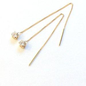 【メーカー直送】 k18 イエローゴールド ダイヤモンド k18 0.3ct ダイヤモンド アメリカン チェーンピアス アメリカン 誕生日や記念日クリスマス母の日ホワイトデーなどのギフトプレゼントにオススメです。, Felicita:984b1c5f --- dpu.kalbarprov.go.id