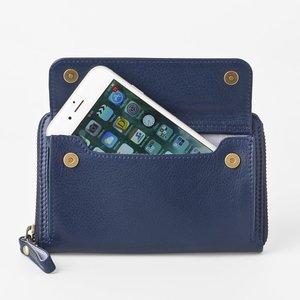良質  [スモールタイプ・マリンブルー] スマホ入れ、お財布になるスマホウォレット iPhone5/6など小さいスマホ向け/ スイス発カーフレザー多機能お財布【送料無料/】 お出かけ女子にお勧め!貴重品をコンパクトに持ち運べる多機能ウォレットで節約, サンジョウシ:62d55cac --- artemechanix.com
