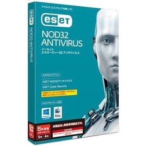 注目 キヤノンITソリューションズ ESET NOD32アンチウイルス Windows/Mac対応 5年4ライセンス 更新 CITS-ND10-049(き), 十勝たちばな 8008046e