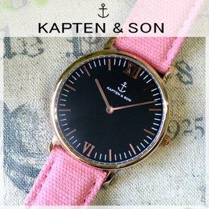 【海外輸入】 キャプテン&サン KAPTEN&SON 36mm 36mm KAPTEN&SON ブラック/ピンクキャンバス レディース 腕時計 GD-KS36BKPC 時計 GD-KS36BKPC【ラッピング無料】, ベップシ:5f1b6df6 --- vouchercar.com